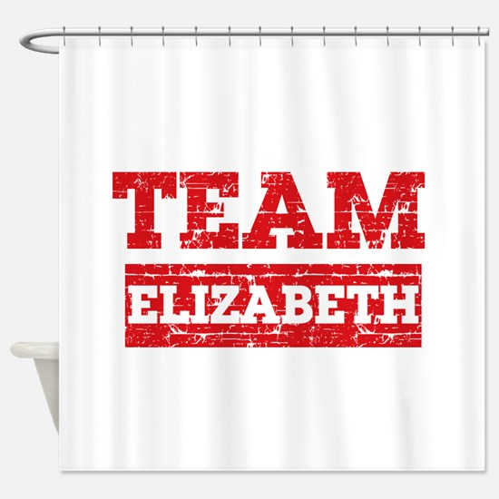 Team Elizabeth Shower Curtain