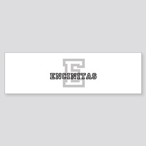 Encinitas (Big Letter) Bumper Sticker