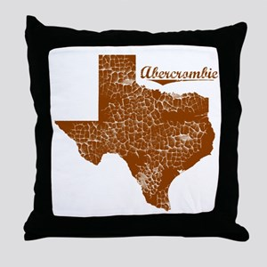 Abercrombie, Texas (Search Any City!) Throw Pillow