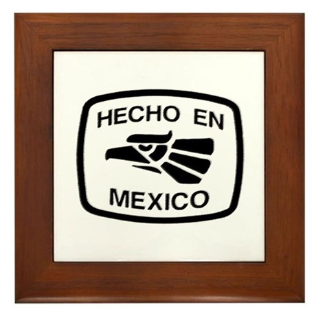 High Quality Hecho En Mexico   Made In Mex Framed Tile