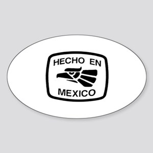Hecho En Mexico - Made In Mex Oval Sticker