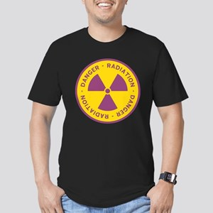Radiation Warning Symbol Men's Fitted T-Shirt (dar