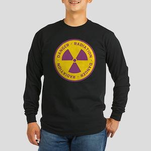 Radiation Warning Symbol Long Sleeve Dark T-Shirt