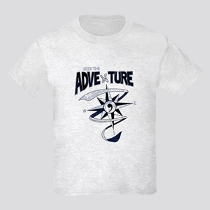 Seek The Adventure! (distressed logo) Kids Light T