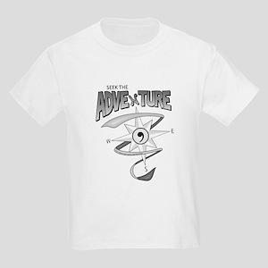 Seek The Adventure! (B&W logo) Kids Light T