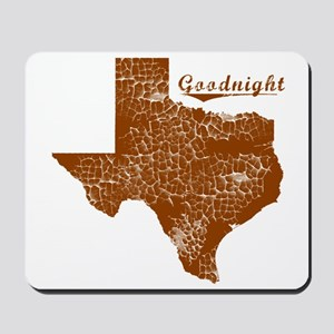 Goodnight, Texas (Search Any City!) Mousepad