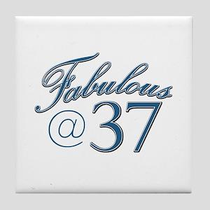 Fabulous at 37 Tile Coaster