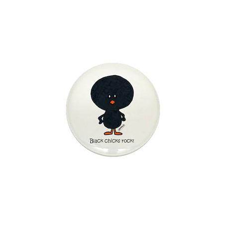 """""""black chicks rock"""" Mini Button"""