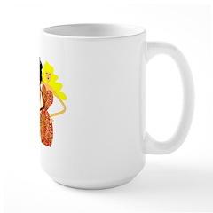 Three Abstract Divas Large Mug