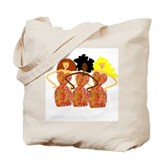 Three Abstract Divas Tote Bag
