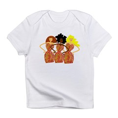 Three Abstract Divas Infant T-Shirt