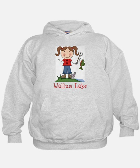 Wallum Lake Fishing Girl Hoodie