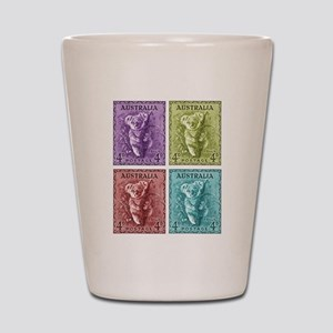 1938 Australian Koala Stamp Shot Glass