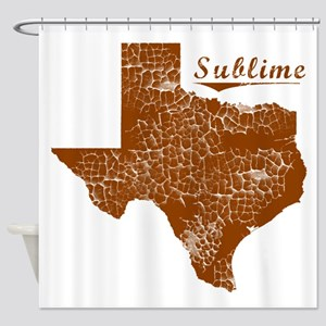 Sublime, Texas (Search Any City!) Shower Curtain