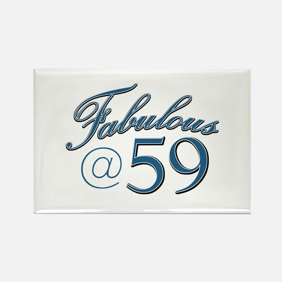 Fabulous at 59 Rectangle Magnet