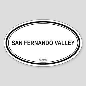 San Fernando Valley oval Oval Sticker