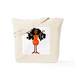 Diva in Orange Dress Tote Bag