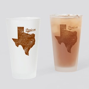 Denison, Texas (Search Any City!) Drinking Glass