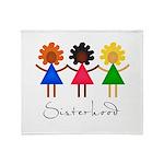 Contemporary Sisterhood Throw Blanket