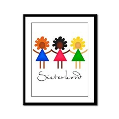 Contemporary Sisterhood Framed Panel Print