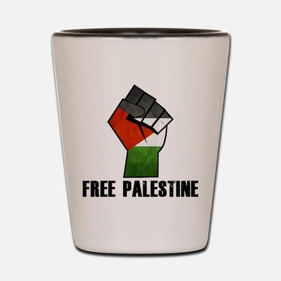 Cute Free palestine Shot Glass