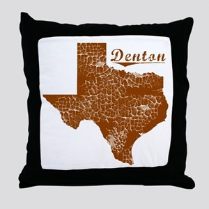 Denton, Texas (Search Any City!) Throw Pillow