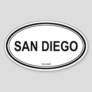 San Diego oval Oval Sticker