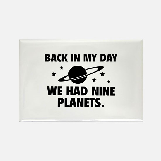 We Had Nine Planets Rectangle Magnet (10 pack)
