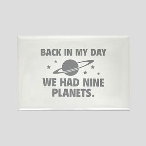 We Had Nine Planets Rectangle Magnet