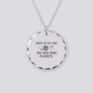 We Had Nine Planets Necklace Circle Charm