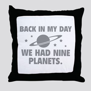 We Had Nine Planets Throw Pillow