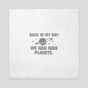 We Had Nine Planets Queen Duvet