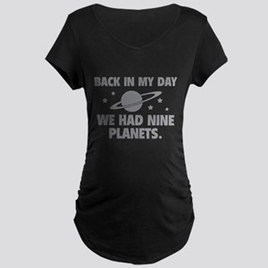 We Had Nine Planets Maternity Dark T-Shirt