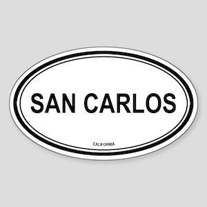San Carlos oval Oval Sticker