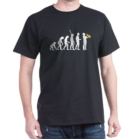 evolution saxophone player Dark T-Shirt
