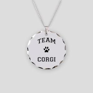 Team Corgi Necklace Circle Charm