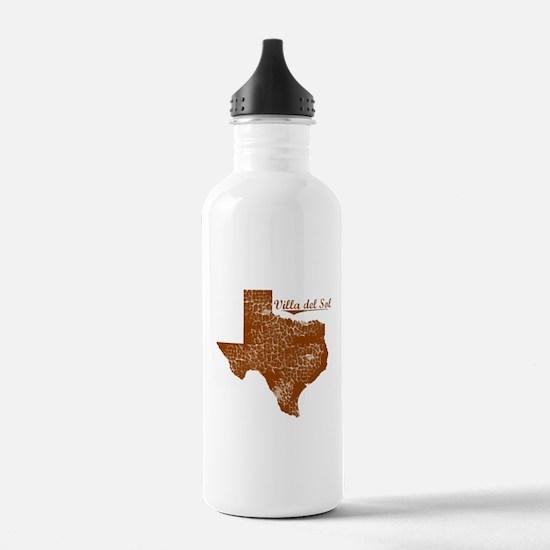 Villa del Sol, Texas. Vintage Water Bottle
