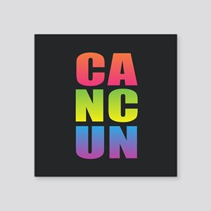 Cancun Black Rainbow Sticker
