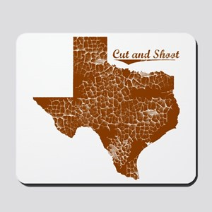 Cut and Shoot, Texas. Vintage Mousepad