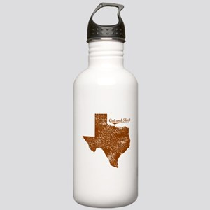 Cut and Shoot, Texas. Vintage Stainless Water Bott