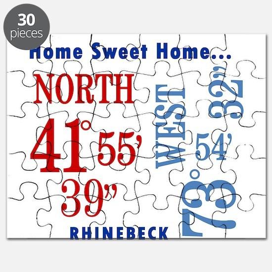 Rhinebeck Coordinates red & b Puzzle