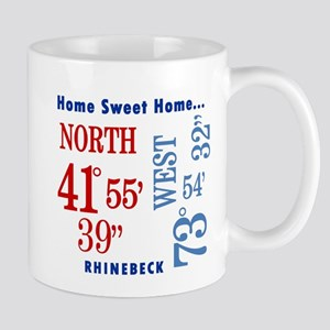 Rhinebeck Coordinates red & b Mug