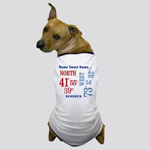 Rhinebeck Coordinates red & b Dog T-Shirt