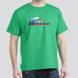 Jekyll Island GA - Map Design. Dark T-Shirt