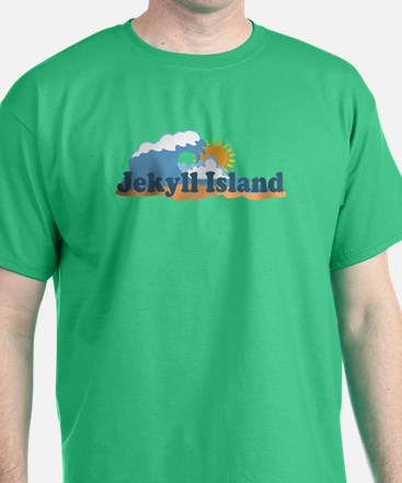 Jekyll Island GA - Map Design. T-Shirt
