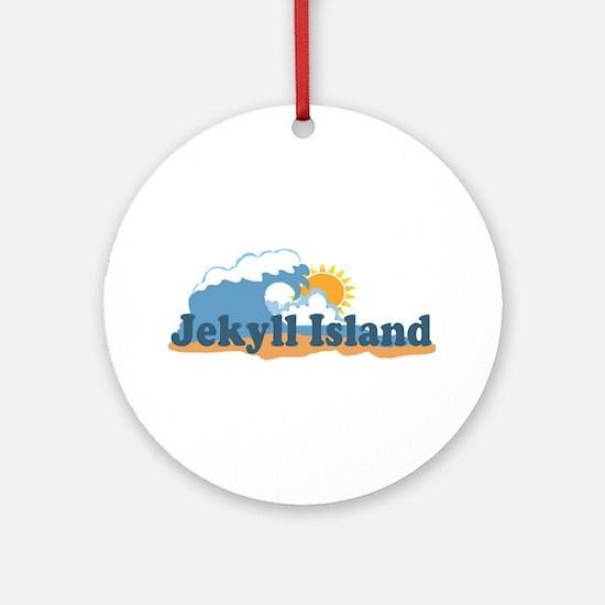 Jekyll Island GA - Map Design. Ornament (Round)