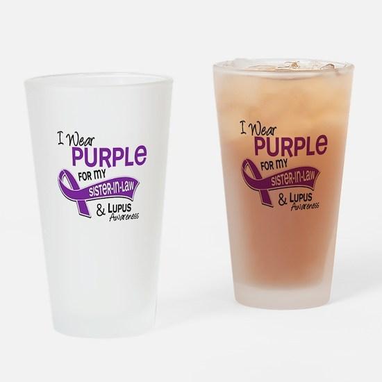 I Wear Purple 42 Lupus Drinking Glass
