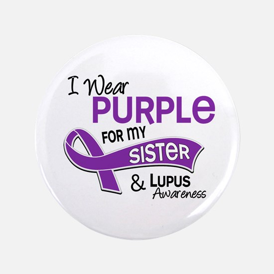 "I Wear Purple 42 Lupus 3.5"" Button (100 pack)"