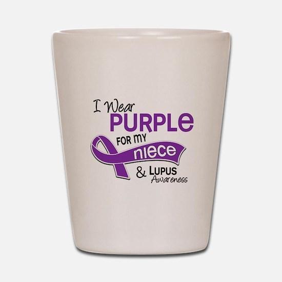 I Wear Purple 42 Lupus Shot Glass