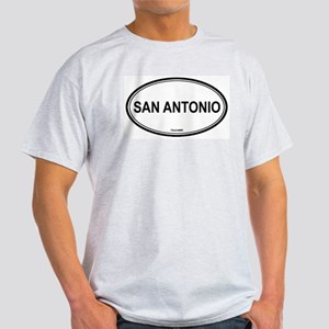 San Antonio oval Ash Grey T-Shirt